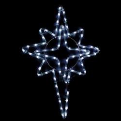 Karácsonyi Csillag figura 50*39cm 72db hideg fehér leddel