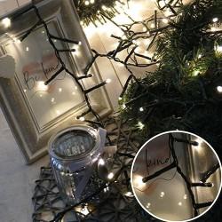 Karácsonyi Led fényfüzér  girland 400db meleg fehér leddel 10m