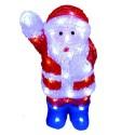 Karácsonyi Télapo figura 36*23*40cm 48db hideg fehér leddel