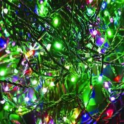 Karácsonyi Led fényfüzér 300db multi color rizsszem leddel 31,9m