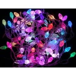 Karácsonyi Led fényfüzér 80db Toboz forma RGB leddel 9,9m!