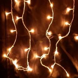 Karácsonyi Led jégcsap függöny 200db meleg fehér leddel