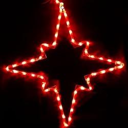 Karácsonyi piros Csillag figura 48db leddel 50*45cm
