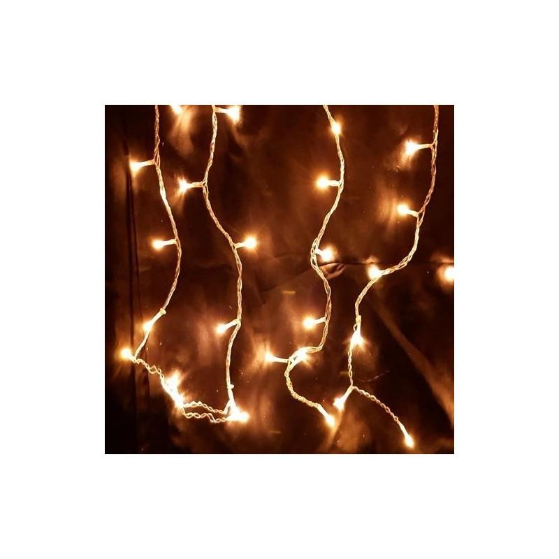 Karácsonyi Led jégcsap függöny 500db meleg fehér leddel vez.: 8funkciós