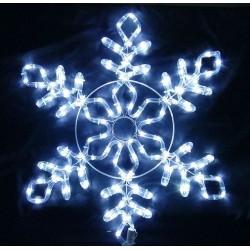 Karácsonyi Hópihe figura 61*55cm 144db hideg fehér leddel