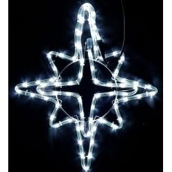 Karácsonyi Csillag figura 55*45cm 72db hideg és meleg fehér leddel