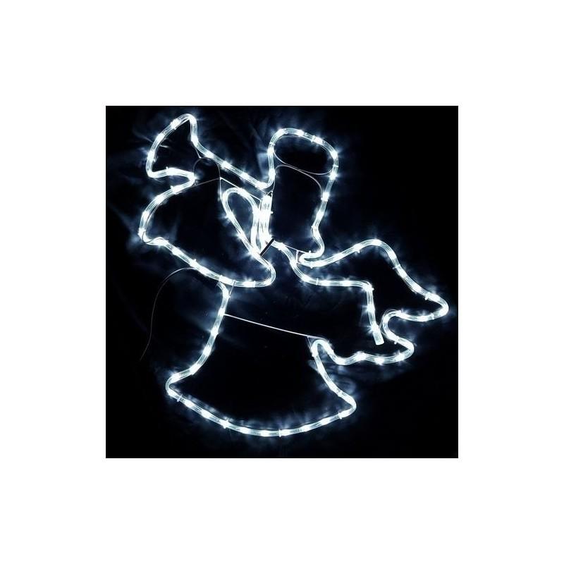 Karácsonyi Angyal figura 60*60cm 96db hideg fehér leddel