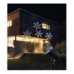 Karácsonyi led projektor fehér hópihe