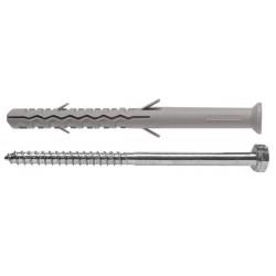 Állványrögzítő tipli csavarral 10x100 mm, dűbel csavarral 1db