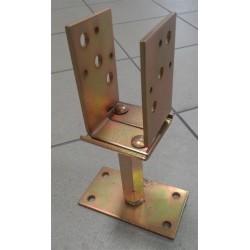 Oszloptartó U alakú állítható széllesség 60-150mm-ig és magasság 50mm